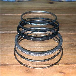 Stack of 6 Sparkly Bracelets from LOFT